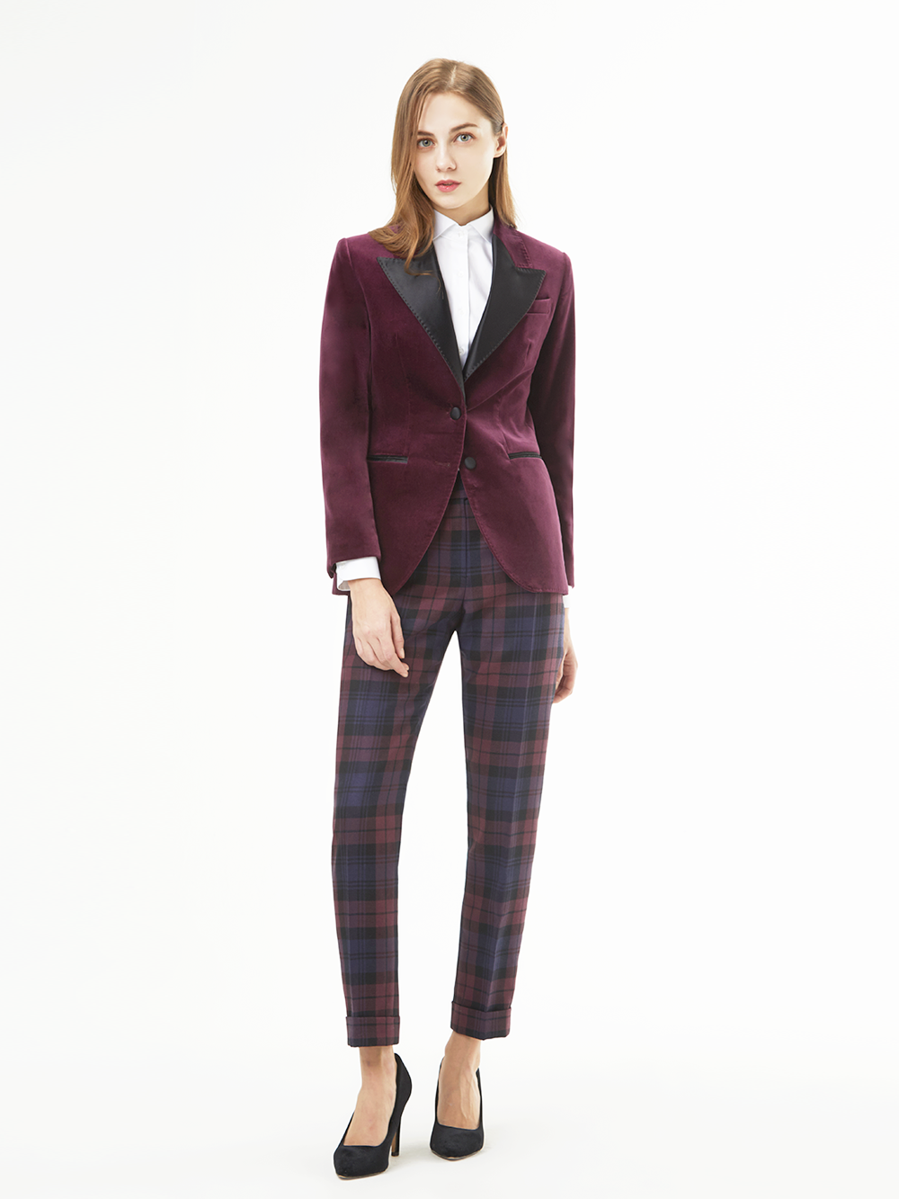 Velvet Single Jacket Wine