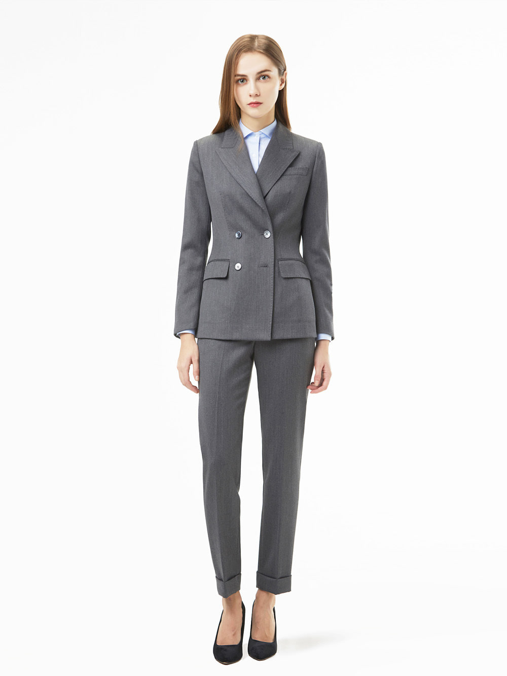 Holland&Sherry Gaberdine Grey Suit