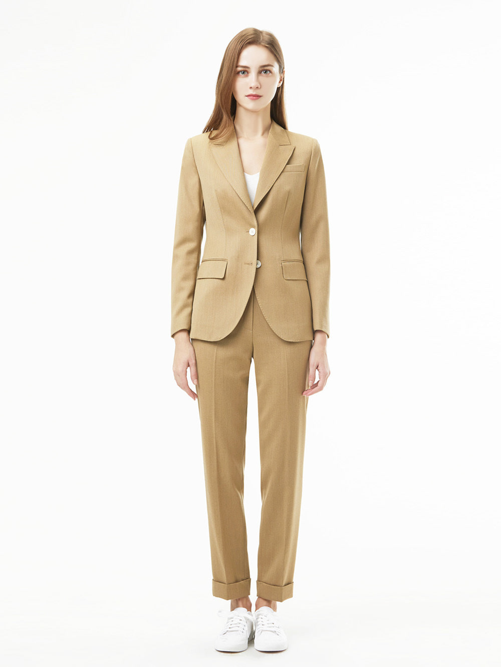 Holland&Sherry Gaberdine Beige Suit